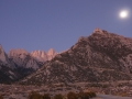 Mt. Whitney and Moon