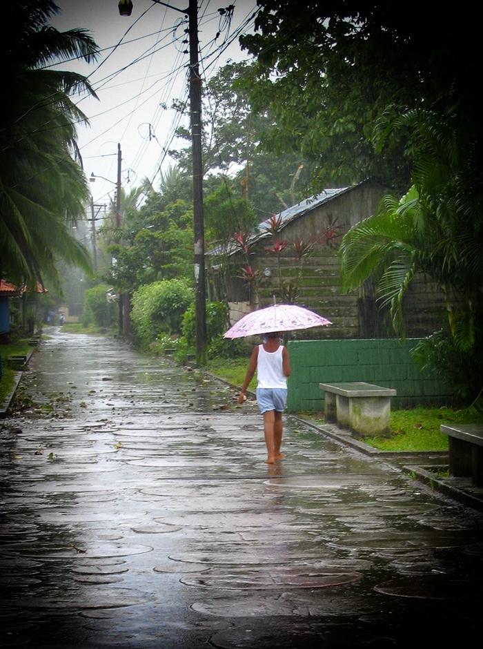 Girl In Tortuguero Rain - zcosta ricaIMG_6115