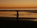 Jogger Torrey Pines Beach Sunset