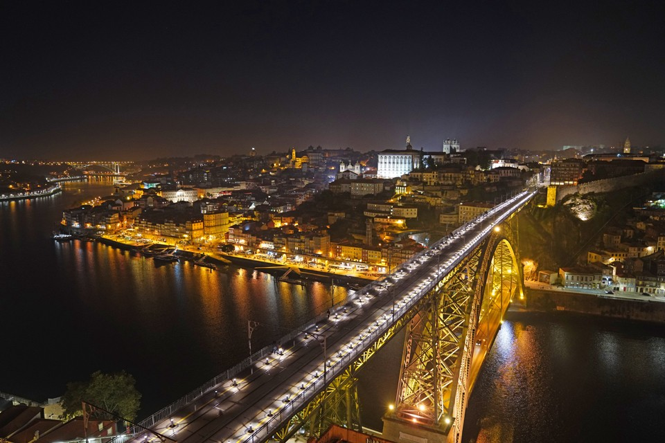 Porto Portugal at Night