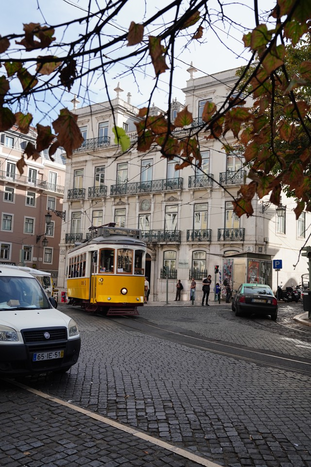 Lisbon Portugal Street Car