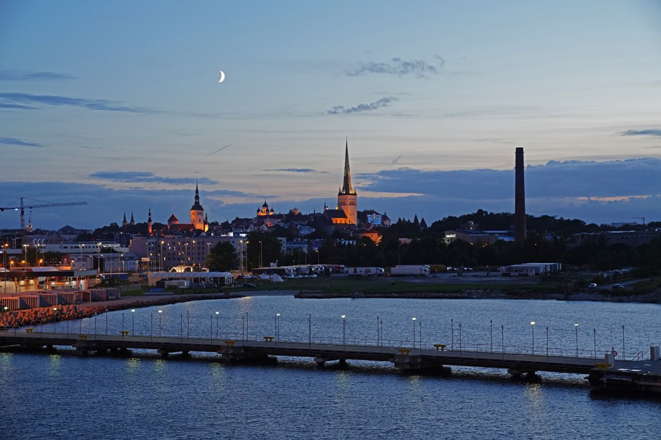 Tallinn Estonia Crescent Moon