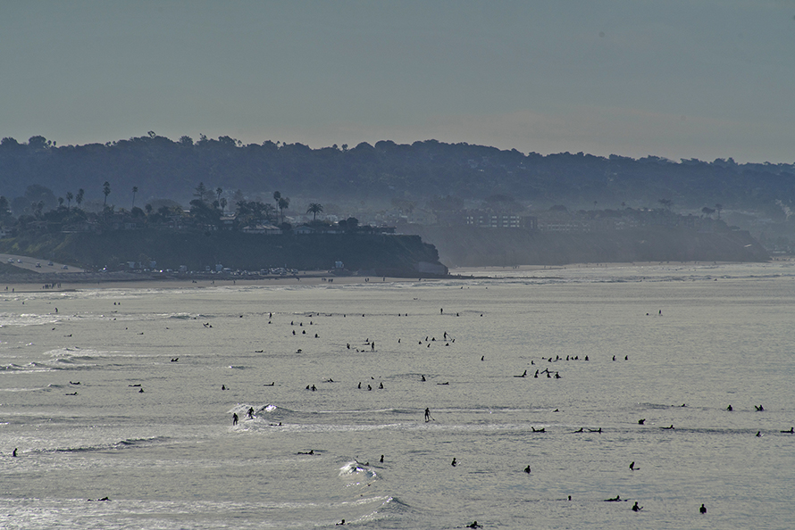 Surfers South Of Encinitas